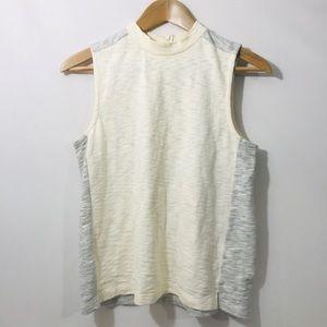 Madewell White & Gray Sleeveless Blouse Size Small